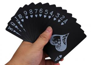 China Black Poker Cards 300gsm Paper 2.5X3.5in Silk Printable High Gloss Shrink Wrapped on sale