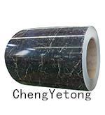 China Marble Grain Color Coated Steel Sheet SMP Coating Printing Precision 0.2MM on sale