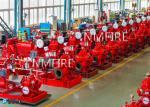 Customized Diesel Fire Sprinkler Pumps / Red High Pressure Fire Fighting Pumps