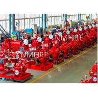 China Customized Diesel Fire Sprinkler Pumps / Red High Pressure Fire Fighting Pumps on sale
