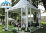 Portable Durable 5X5M Backyard Pagoda Tent With PVC Fabric Covers Flame Retardant