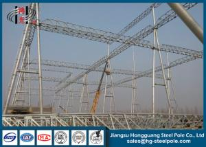 China Hot Dip Galvanized / Painting Substation Steel Structures For Transmission Line Project on sale