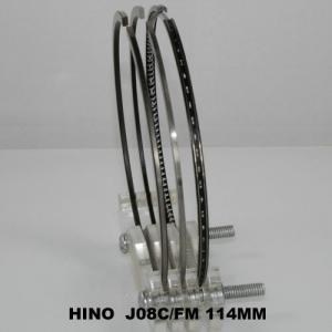 China Gapless Diesel HINO Piston Ring Sets Line-honing Total Seal 114MM J08C on sale