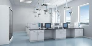 China Trespa lab side   bench furniture equipment supplier for chemical and hospital laboratory on sale
