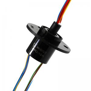 China 12 circuits Capsule Slip Ring with Gold to Gold Transfers Analog and Digital Signals for Indexing Tables on sale