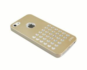 China Luxury Gold Color Cool Iphone 5 Case With Holes Hard Plastic Case on sale
