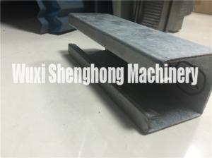 China Metal C shape Purlin Roll Forming Machine Anti-rust Roller Long Life on sale
