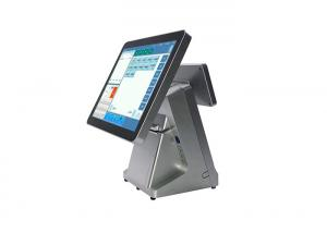 China Simple Capacitive Touch Screen POS Machine LED Monitor 64GB SSD ROM on sale