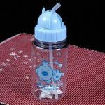a garrafa de bebês 450mL com palha, resistência alta, feita do vidro à prova de balas