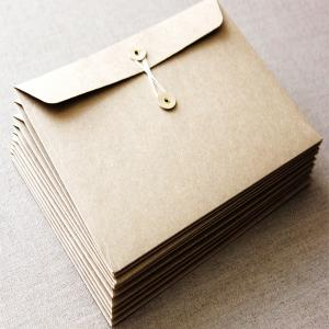 China 2015 Custom kraft envelope with string on sale