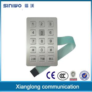 China Zinc Alloy Frame ATM Keypad 3 x 4 Digital Access For Kiosk B21 on sale