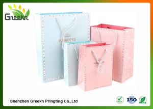 China Fashionable Coated Printed Paper Gift Bags with Different Sizes for Customization on sale