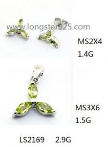 China 925 silver gemstone jewelry set, natural precious stone jewelry on sale