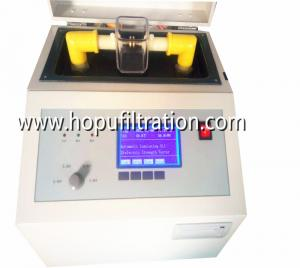 China Portable Transformer Oil Tester, transformer oil bdv standard meter, transformer oil gap test, Strength testing skid on sale