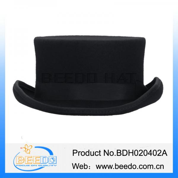 Fashion Wool Flat Top Hat Men Tuxedo f0a95e557549