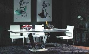 Quality Rectangle Marble Dining Tables For 8 People , Dining Room Furniture , Luxury for sale