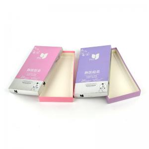 China Gold Stamping Underwear Packaging Box Gloss Lamination For Bra / Socks on sale