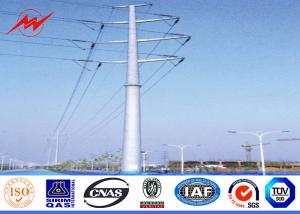 China 70ft 1250kg Load Steel Top Plate Welding Steel Electrical Power Pole 69kv on sale