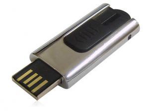 China Mini Slider Metallic USB Flash Drive , 32MB - 32GB Thumb Drive on sale