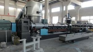China PE dos PP da velocidade rápida que recicla a linha plástica da granulação on sale