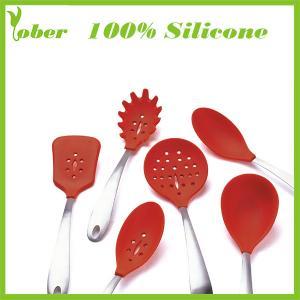 China 100% Silicone Custom Silicone Spatula Set Silicone Kitchen Tools Silicone Kitchenware Set on sale