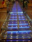 1,22 X aluminio de 1,22 M/escalera de cristal/de acrílico de los pasos de la plataforma 3 de la etapa