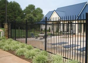 China Professional Square Tubular Picket Fence For Automatic Security Gates on sale