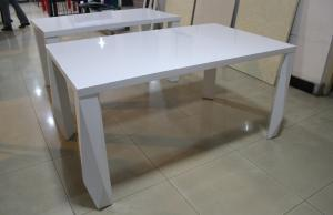 China Hot sales,new style ,cheap MDF white High gloss Dining table on sale
