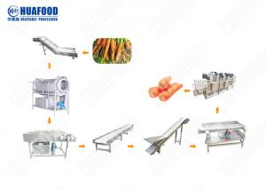 China Water Bubble 2000kgh Fruit And Vegetable Processing Line on sale