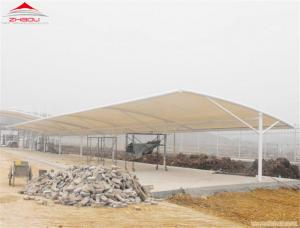 China Outdoor Tensile Membrane Structures Metal Car Park Shed Temperature Resistance on sale
