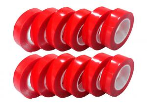 Quality Door Red VHB Acrylic Foam Tap / Window Transparent Acrylic Double Sided Tape for sale