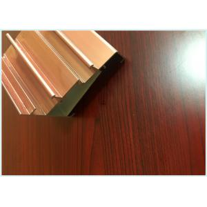 China Lightweight Alloy Aluminium Sliding Door Profiles PVDF Coating Engineering Design on sale