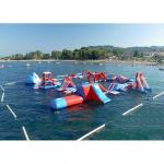 China Red and Blue Inflatable Aqua Park , 0.9mm PVC Tarpaulin Inflatable Sports Park wholesale
