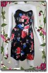 Vestido sem alças da Floral-cópia
