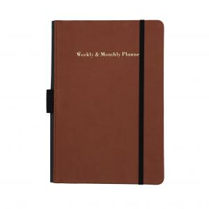 China Synthetic Leather Daily Weekly Planner 120 Sheets For Conference / Student Notes on sale