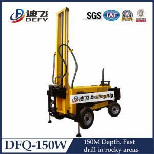China Fabricante da máquina do equipamento de perfuração do poço de água do hard rock DTH do reboque de DFQ-150W 150m on sale