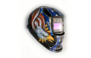 China DIN 9-13 Electronic american flag Welding Helmet Automatically on sale