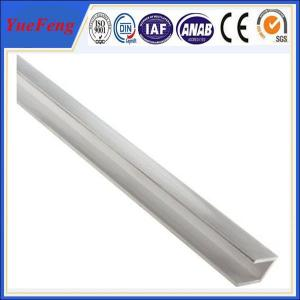 China Anodized Silvery Aluminum U Channel Extrusions , aluminium frame profiles on sale