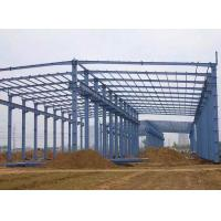 China Prefabricated Steel Frame Structure Metal Building / Steel Building Erection Workshop on sale