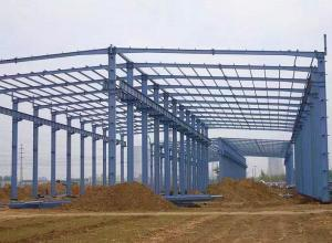 China Prefabricated Steel Frame Structure Metal Building 50 Years Service Life on sale