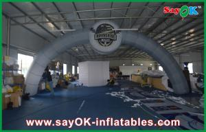 China White  Hangout  Inflatable Entrance Advertising Arch / Inflatable Arch Rental with Oxford Cloth on sale