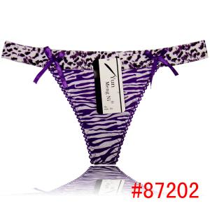 China lady thong leopard cotton t-back sexy women underwear hot lady panties g-string lady lingerie intimate underpants on sale