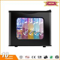 China 20L hotel mini fridge glass door thermoelectric small refrigerator price with lock on sale