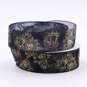 China Double Face Metallic Glitter Ribbon Multi Color Hot Stamping Printing on sale