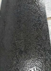 China Nero Angola Black Polished Granite Tiles Sawn Flamed French Pattern Skirting on sale