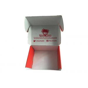 China Colored Corrugated Mailing Boxes , Custom Retail Packaging Die Cut Paper Box on sale