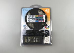 China 5050 RGB LED flexible strip light with 44-key controller and power supply on sale
