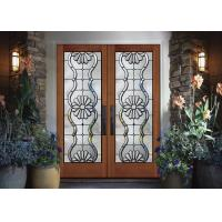 Black Patina Internal Decorative Sliding Glass Door Added Light