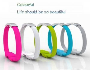 China wristband Micro usb magnet bracelet high speed charging cable for iphone 6 5s samsung s5 on sale