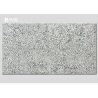 Grey Marble Quartz Stone Slab Glossy Polished For Bench / Worktop Making
